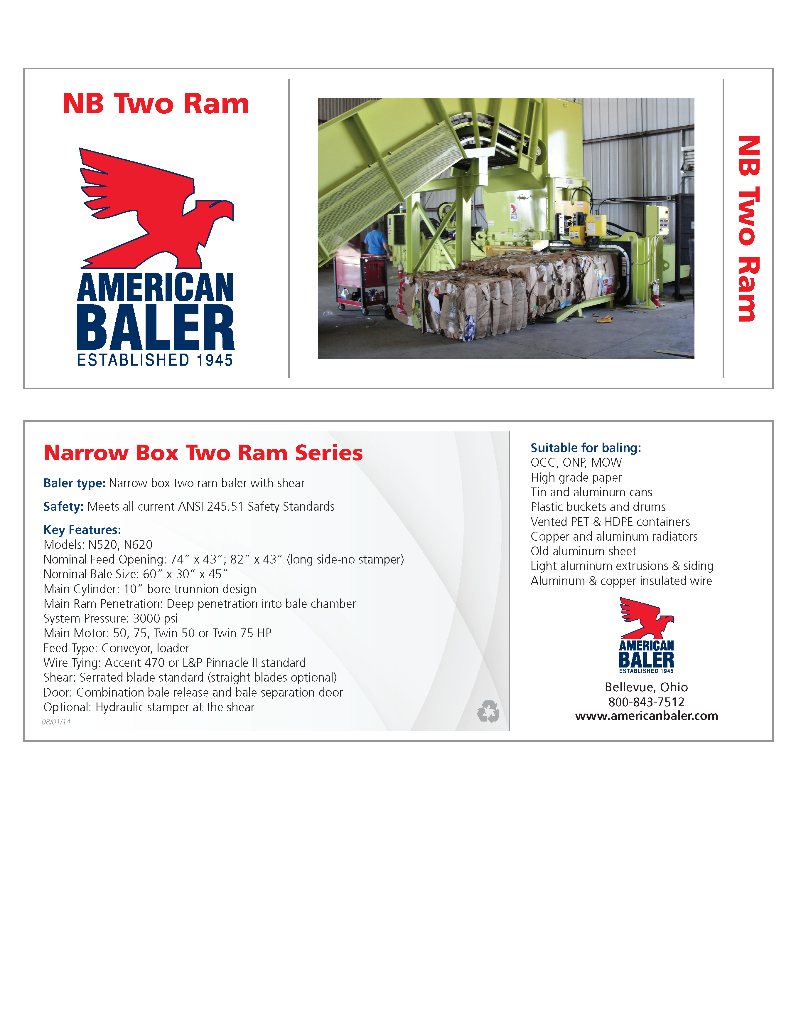 Learn more about the NB Series Balers in the American Baler Brochure