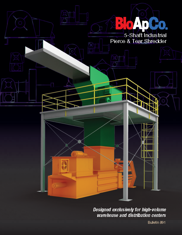 Learn more about Warehouse / Distribution Center Shredders in the BloApCo Brochure