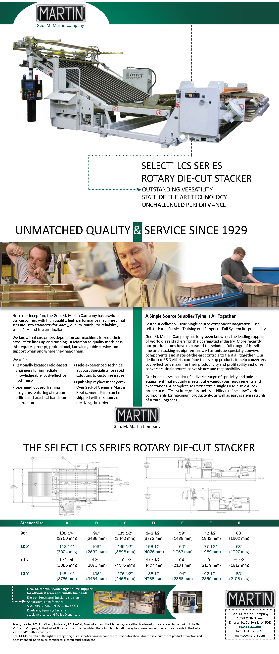 Learn more about the Select LCS Rotary Die Cutter Stacker in the Geo. M. Martin brochure!