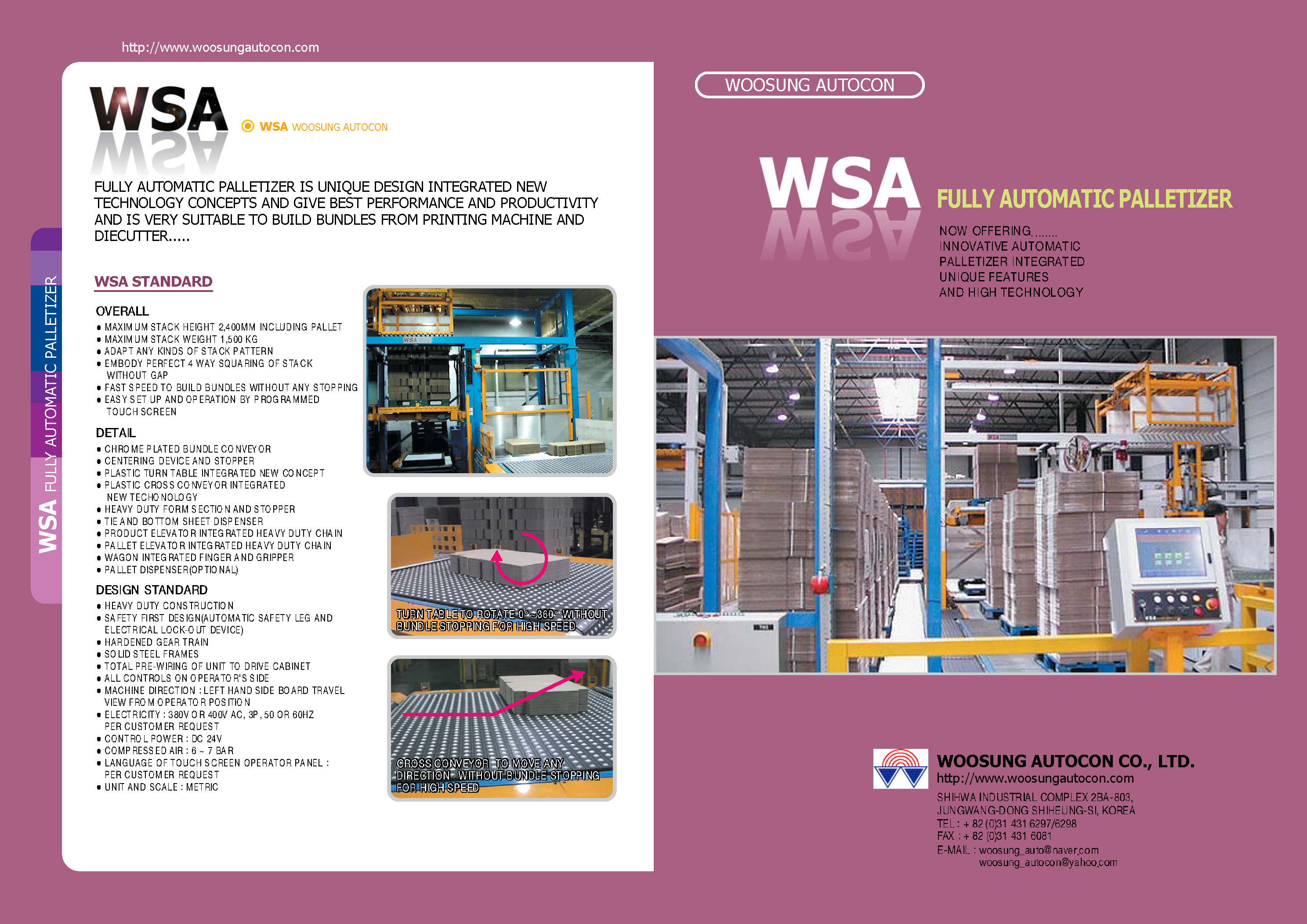 Learn more about WSA Load Formers and Palletizers in their brochure