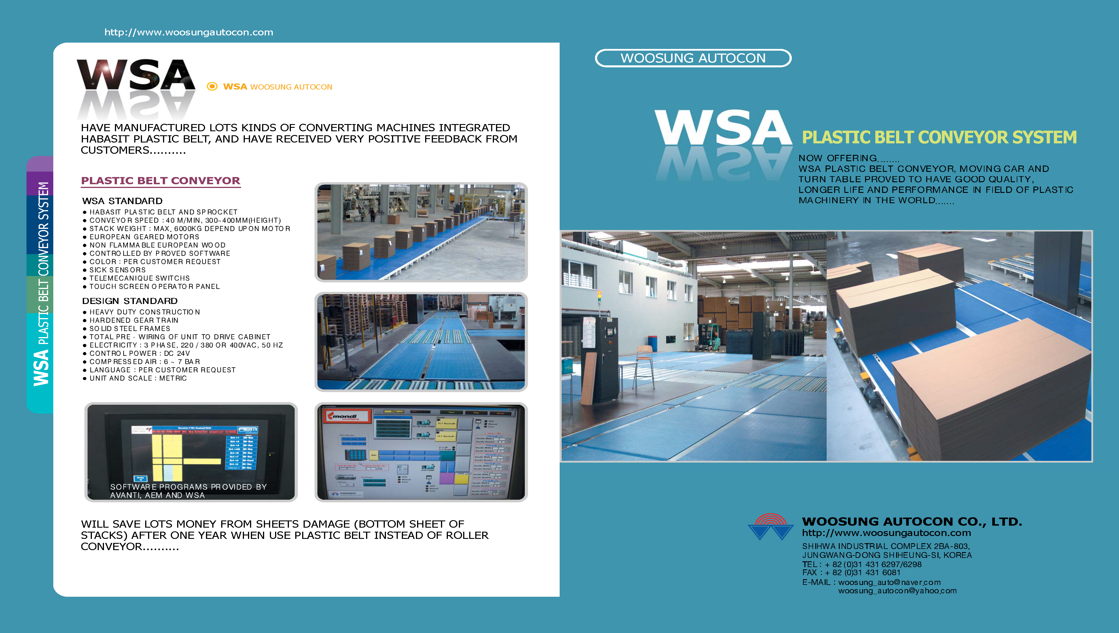 Learn more with WSA's Plastic Belt Conveyor Systems Brochure.