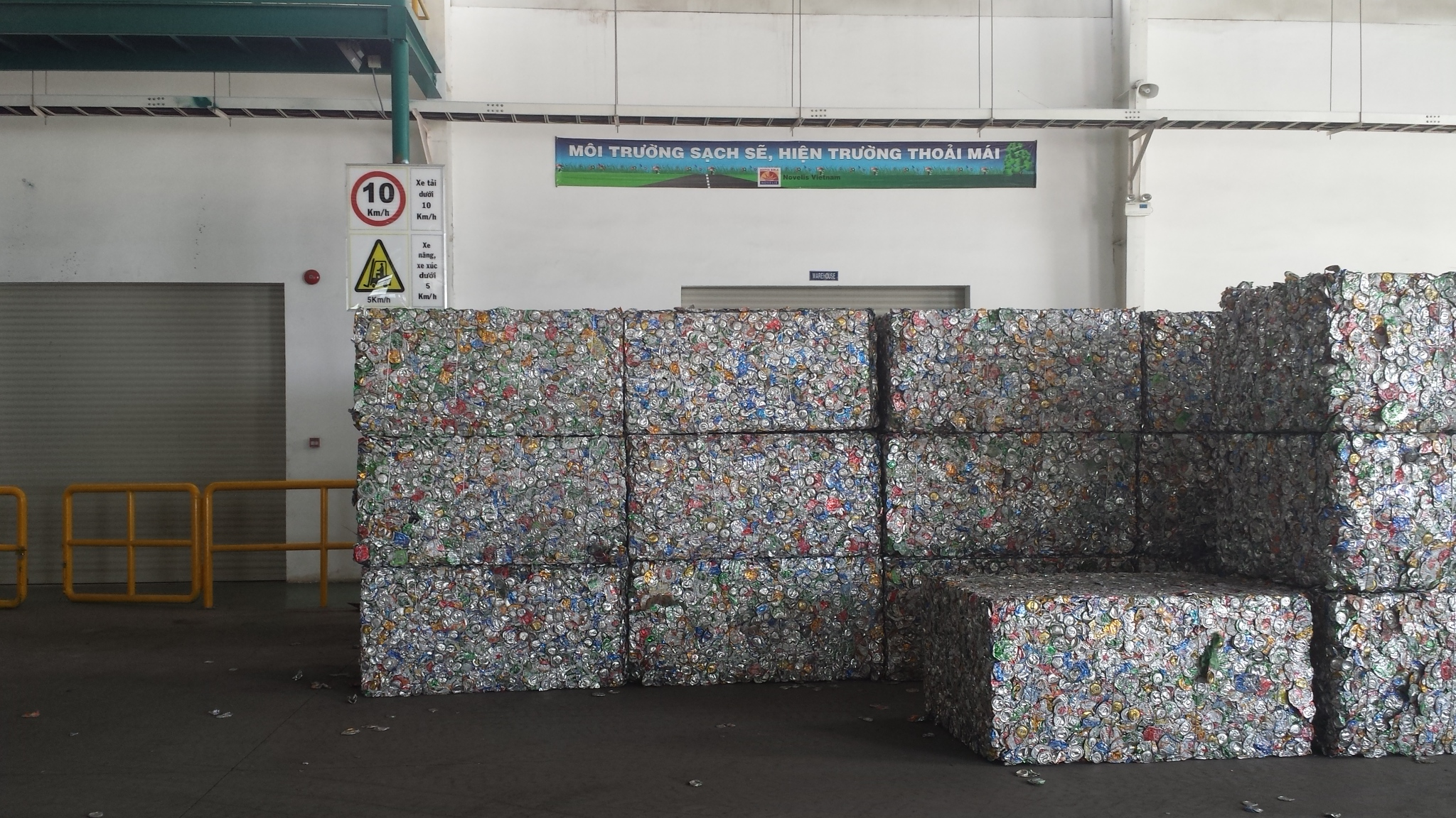 Shown:  Baled Aluminum cans from the WB Series Baler