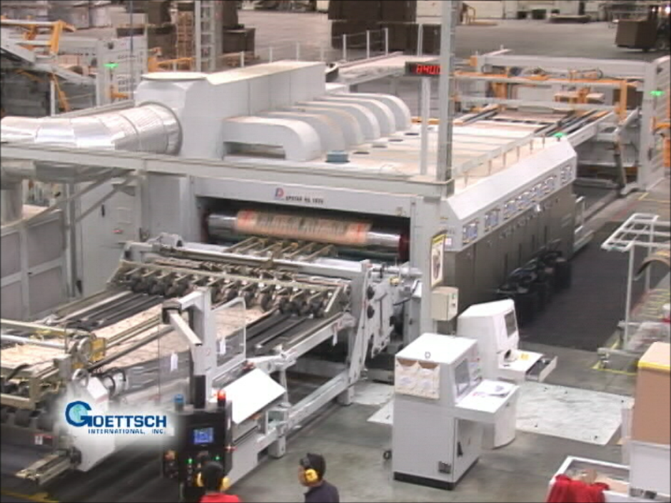 Goettsch Corrugating / Converting Production Line System – Case Study #1