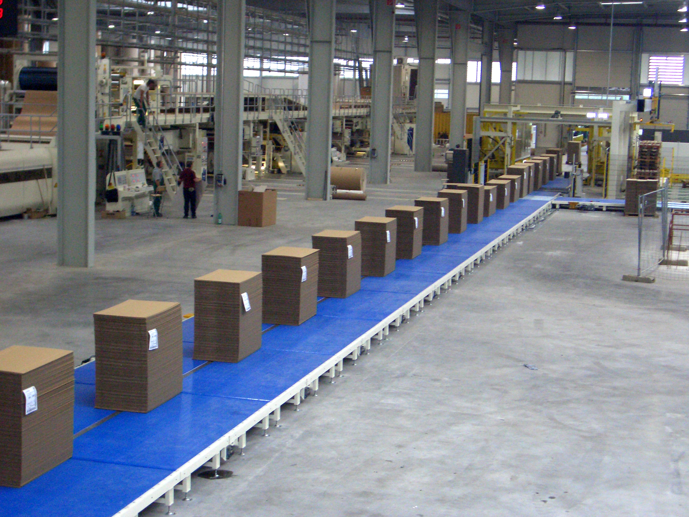 Shown is the WSA Plastic Belt Conveyor